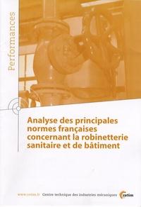 CETIM - Analyse des principales normes françaises concernant la robinetterie sanitaire et de bâtiment.