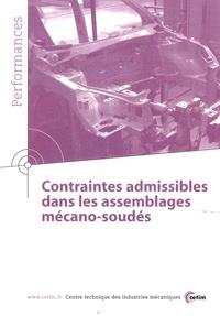CETIM - Contraintes admissibles dans les assemblages mécano-soudés.