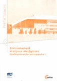 CETIM - Environnement et enjeux stratégiques - Quelles démarches entreprendre ?.