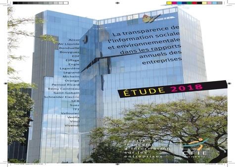 CFIE-Conseil - La transparence de l'information sociale et environnementale dans les rapports annuels des entreprises - Etude 2018.