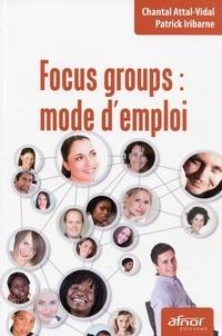 Chantal Attal-Vidal et Patrick Iribarne - Focus groups : mode d'emploi.