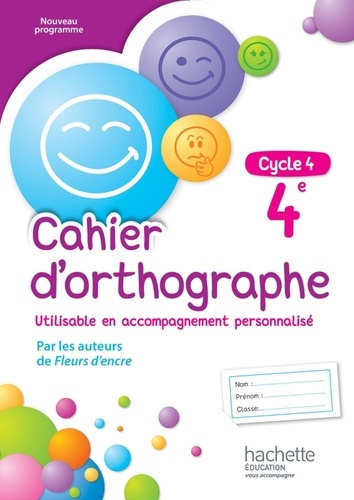 Cahier D Orthographe 4e Grand Format