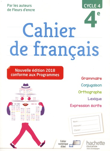 Cahier De Francais 4e Cycle 4 Grand Format