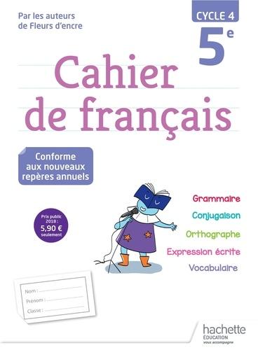 Cahier De Francais 5e Cycle 4 Grand Format