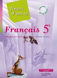 Francais 5e Manuel Unique Chantal Bertagna Francoise Carrier