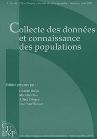 Chantal Blayo et Michèle Dion - Collecte des données et connaissance des populations - 12e colloque national.