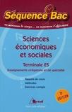 Chantal Buhour et Dominique Glaymann - Sciences économiqes et sociales Tle ES Enseignements obligatoire et de spécialité.