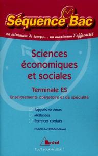 Chantal Buhour et Dominique Glaymann - Sciences économiques et sociales Tle ES.