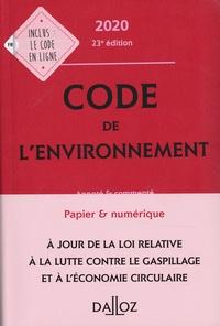 Chantal Cans et Edith Dejean - Code de l'environnement - Annoté & commenté.