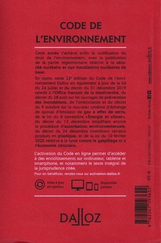 Code de l'environnement. Annoté & commenté  Edition 2020
