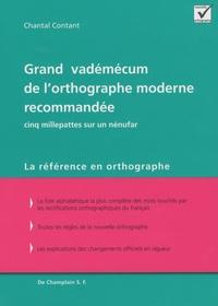 Chantal Contant - Grand vadémécum de l'orthographe moderne recommandée - Cinq millepattes sur un nénufar.