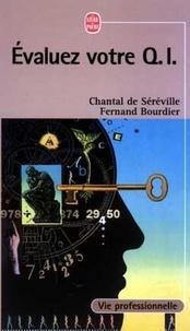 Chantal de Séréville et Fernand Bourdier - Evaluez votre QI - I..