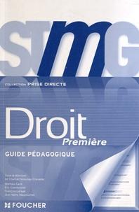Chantal Delaunay-Chevalier - Droit 1e STMG - Guide pédagogique.