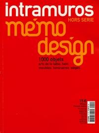 Chantal Hamaide - Mémodesign 2005 - Edition bilingue français-anglais.