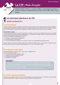 Chantal le Mat - CIF : mode d'emploi.