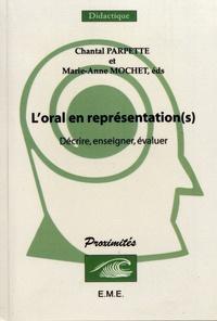 L'oral en représentation(s)- Décrire, enseigner, évaluer - Chantal Parpette | Showmesound.org