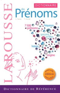Chantal Tanet et Tristan Hordé - Dictionnaire des prénoms.