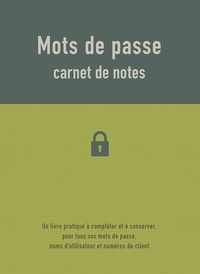 Chantecler - Carnet de notes - Mots de passe.