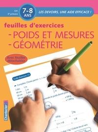 Chantecler - Feuilles d'exercices : Poids et mesures, Géométrie.