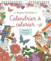 Chantecler - Happy Birthday ! - Calendrier d'anniversaires à colorier.
