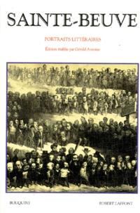 Charles-Augustin Sainte-Beuve - Portraits littéraires.