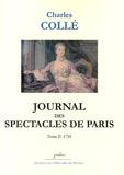 Charles Collé - Journal des spectacles de Paris - Tome 2, 1750.