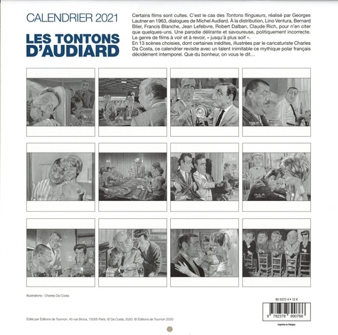 Calendrier Les tontons d'Audiard  Edition 2021