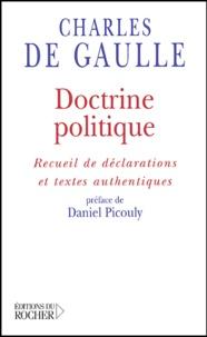Histoiresdenlire.be Doctrine politique - Recueil de déclarations et textes authentiques Image