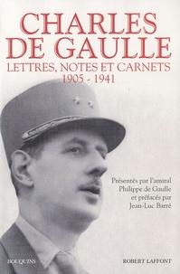 Charles de Gaulle - Lettres, notes et carnets - Tome 1, 1905-1941.