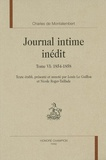 Charles de Montalembert - Journal intime inédit - Tome 6, 1854-1858.