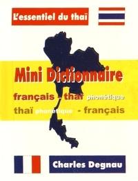 Charles Degnau - Mini dictionnaire français-thaïlandais et thaïlandais-français.