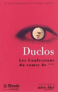 Charles Duclos - Confessions de comte de ***.
