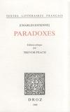 Charles Estienne - Paradoxes.