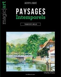 Paysages intemporels- Acrylique - Transferts inclus - Charles Evans |