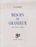 Charles-Ferdinand Ramuz - Besoin de grandeur.