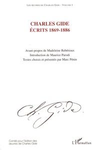 Charles Gide - Ecrits 1869-1886.