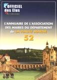 Charles Guené - L'Annuaire de l'association des maires du département de la haute marne 52 - Avec le répertoire.