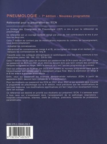 Pneumologie. Référentiel pour la préparation l'ECN 7e édition