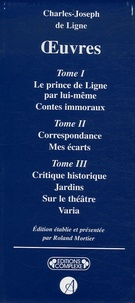 Charles-Joseph de Ligne - Charles-Joseph de ligne Oeuvres - Coffret en 3 volumes.