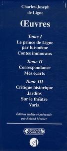 Charles Joseph Ligne - Charles-Joseph de ligne Oeuvres - Coffret en 3 volumes.