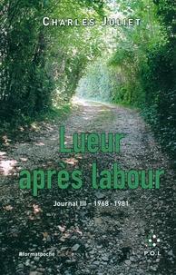 Charles Juliet - Journal / Charles Juliet Tome 3 : Lueur après labour (1968-1981).