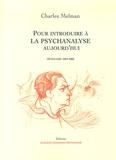Charles Melman - Pour introduire à la psychanalyse, aujourd'hui - Séminaire 2001-2002.