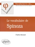 Charles Ramond - Le vocabulaire de Spinoza.