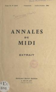 Charles Samaran - La Gascogne dans les registres du Trésor des chartes.