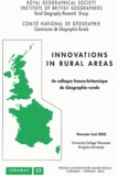 Charles Watkins et David Matless - Innovations in Rural Areas - 4e Colloque franco-britannique de Géographie rurale Worcester (mai 2002).