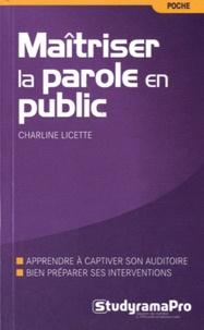 Maîtriser la parole en public - Charline Licette   Showmesound.org