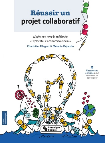 """Charlotte Allegret et Mélanie Déjardin - Réussir un projet collaboratif - 40 étapes avec la méthode """"explorateur économico-social""""."""
