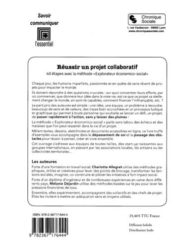 """Réussir un projet collaboratif. 40 étapes avec la méthode """"explorateur économico-social"""""""