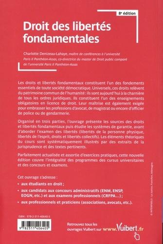 Droit des libertés fondamentales  Edition 2019-2020