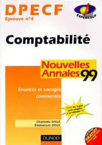 Histoiresdenlire.be DPECF EPREUVE N° 4 COMPTABILITE . Nouvelles annales 1999 Image